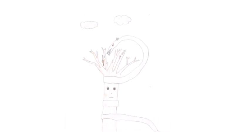 Clorella - Ramo con serpente intorno
